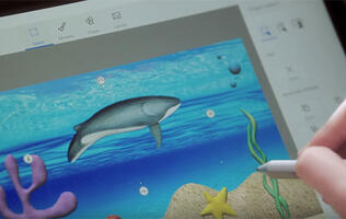 Microsoft Paint 3D is a cooler and more modern version of a classic app