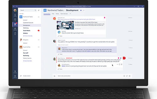 Deeply integrated with Office 365, Microsoft Teams is designed to out-muscle Slack in the workplace