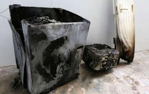 Samsung washing machine catches fire in Singapore