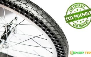 The Nexo airless tires eradicate bicycle tire punctures for good