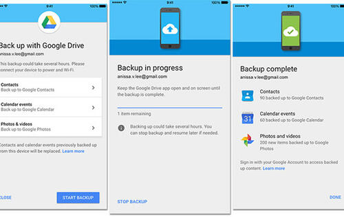 The Google Drive app for iOS is now an Android migration tool