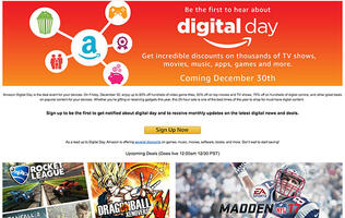 Amazon is going to have a big sale later today on digital things on 'Digital Day'
