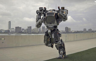 Korea's 4 meter-tall, 1.3-ton bipedal mech takes its first steps