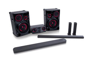 LG reveals SJ9 Dolby Atmos sound bar and LOUDR party speakers at CES 2017