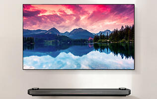 The LG Signature OLED W7 is so thin that the only way to do it justice is to wall-mount it