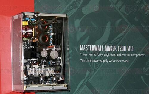 Cooler Master unveiled the limited edition MasterWatt Maker 1200 MIJ power supply unit (Updated)
