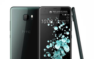 HTC's new U Ultra flagship phone has an all glass design and a second screen