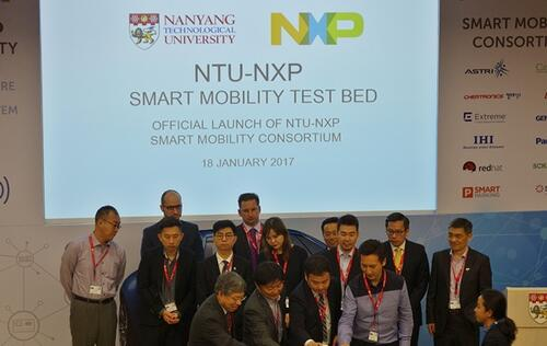 NTU and NXP Semiconductors launch Smart Mobility Consortium to test and develop smart mobility technologies