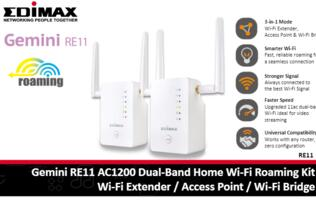 Gemini RE11 AC1200 Dual-Band Wi-Fi extender offers up to 867Mbps on 802.11ac