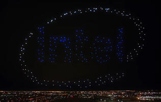 Lady Gaga's Superbowl halftime show was backed by 300 drones from Intel