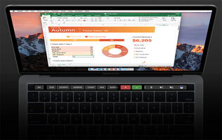 Touch Bar support in Office for Mac is now available to all users