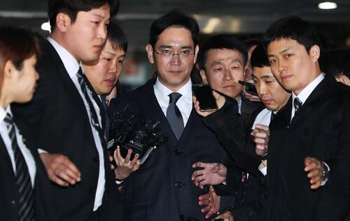 Samsung Vice Chairman Lee Jae-yong arrested for bribery, perjury and embezzlement