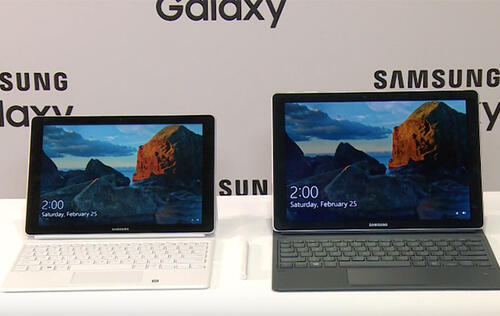 The Samsung Galaxy Book is a premium 2-in-1 device running Windows 10