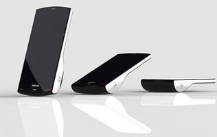 Nokia Kinetic Concept Phone Sits Upright During Calls