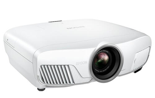 The Epson EH-TW8300W projector supports wireless HD transmission and 4K upscaling