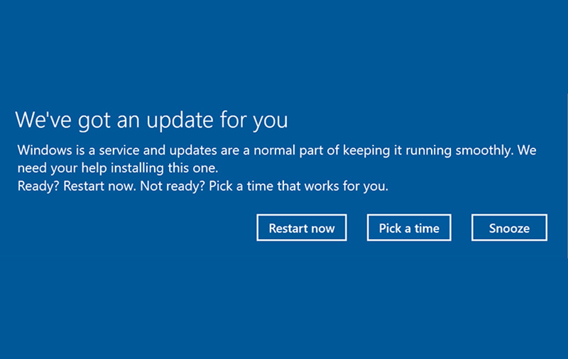 Windows Update is about to get less irritating
