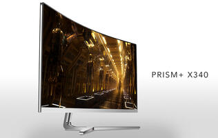 Aftershock enters display market with its new PRISM+ curved gaming monitors