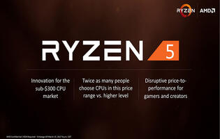 AMD's Ryzen 5 processors will start at US$169 and arrive on April 11