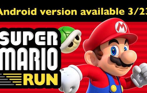 Super Mario Run will be available for Android users on 23 March