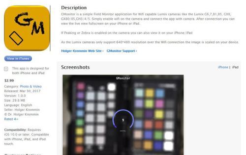 43Rumors reader develops Field Monitor App for Panasonic
