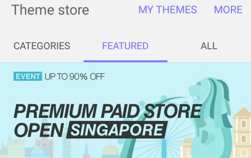 Samsung launches premium paid theme store in 15 countries including Singapore