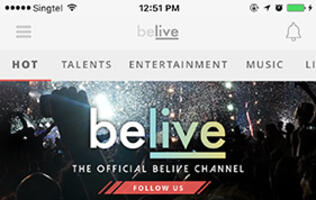 BeLive turns any place into a performing space