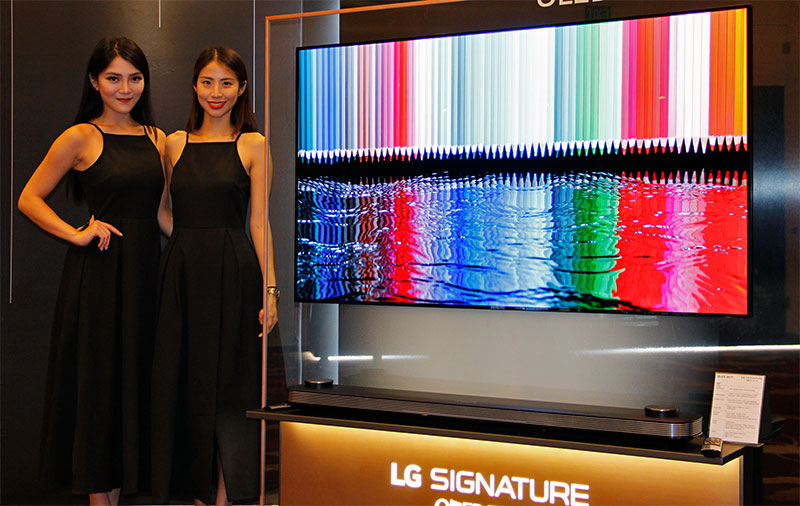 "LG's 2017 flagship OLED 4K TVs to hit stores in May, 65-inch Signature W7 ""wallpaper"" TV going at S$12,888"