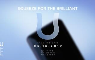 HTC is going to announce a squeezable U phone on 16 May