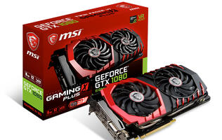 MSI announces new Gaming X+ series with faster memory for the GeForce GTX 1060 and 1080