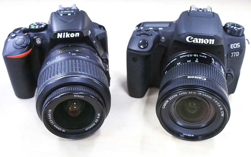Mid-range DSLRs compared: Nikon D5600 vs. Canon 77D