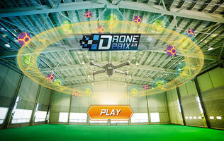 With the new Drone Prix AR game, any space is a racing space.