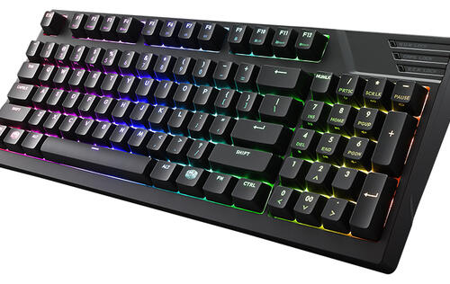The Cooler Master MasterKeys Pro M RGB gives you a number pad in a smaller 90 per cent form factor