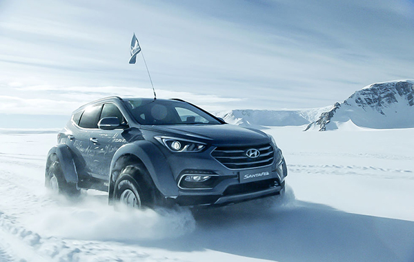 Watch a Hyundai become the first car to cross Antarctica