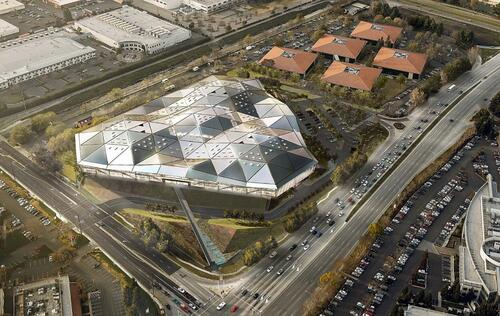 Sneak Peek: Inside NVIDIA's new triangular UFO headquarters