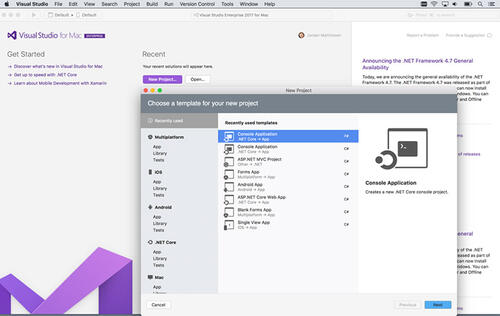 Microsoft releases Visual Studio for Mac