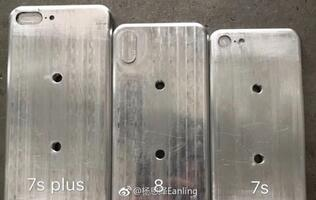Leaked molds show off designs of the iPhone 8, iPhone 7s and 7s Plus