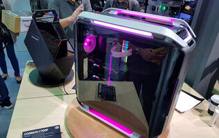 The Cooler Master Cosmos C700P sports a curved tempered glass panel and a more modern look (Updated)