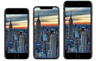 Purported renders compare iPhone 8 with the iPhone 7 and Galaxy S8