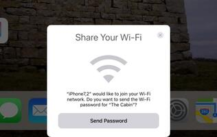 You can share your Wi-Fi with friends on iOS 11
