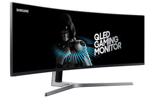 Samsung's sprawling 49-inch curved quantum dot display is the first to feature AMD's FreeSync 2