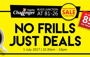 Deal alert: 8 things to buy at the Challenger Bugis Junction 1-day sale