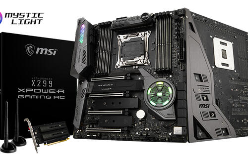 The MSI X299 XPower Gaming AC motherboard offers top-of-the-line performance in a stealthy black package