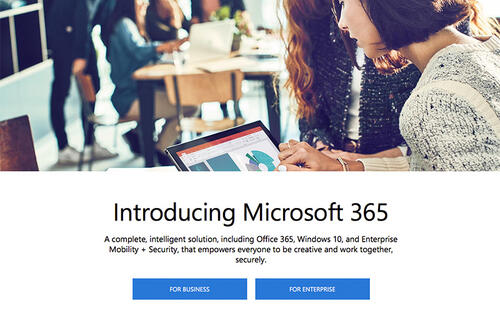 Microsoft 365 is a Windows 10 and Office 365 subscription bundle for businesses