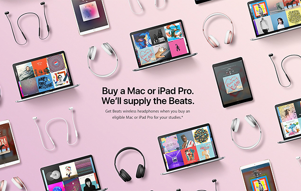 Deal Alert: Students can get free wireless Beats headphones when they buy a Mac or iPad Pro