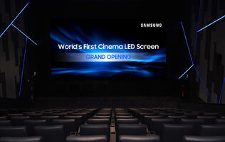 Samsung unveils world's first LED HDR cinema screen