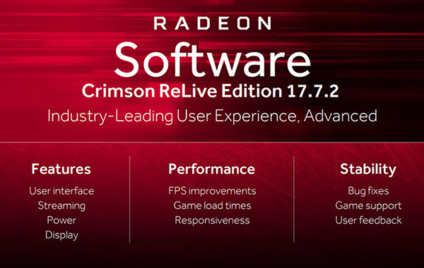 AMD's new Radeon Software Crimson ReLive update adds improvements for performance, streaming, and power