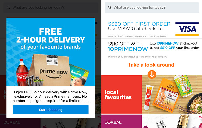 Amazon Prime Now app goes live in Singapore app stores