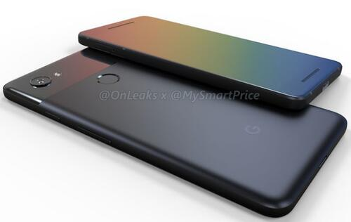 These are the first 3D renders of Google's upcoming Pixel 2 smartphones
