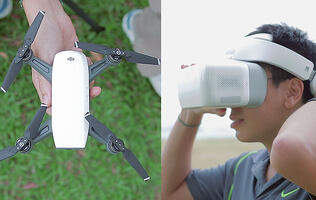First looks: DJI Goggles FPV headset & DJI Spark mini drone