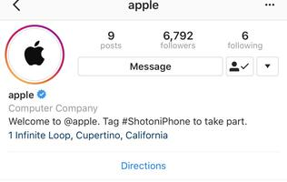 "Apple has an official Instagram account, shares ""Shot on iPhone"" content"